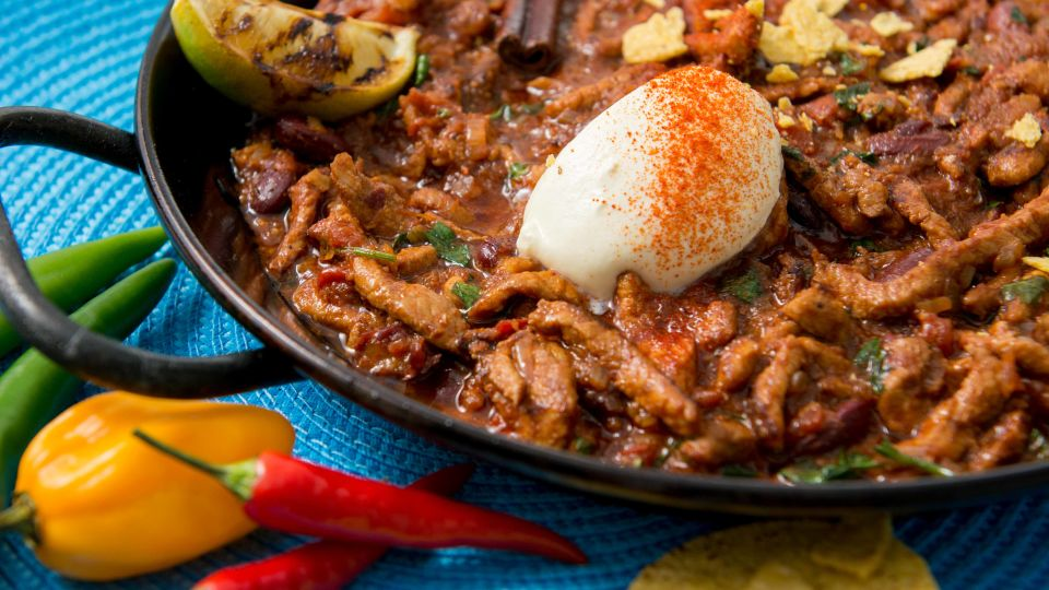 Chili con carne fileestä